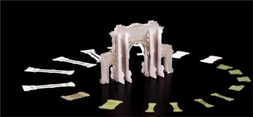 清华立体式通知单升級了 立体式更有层次感:网民大呼好看得像纸雕